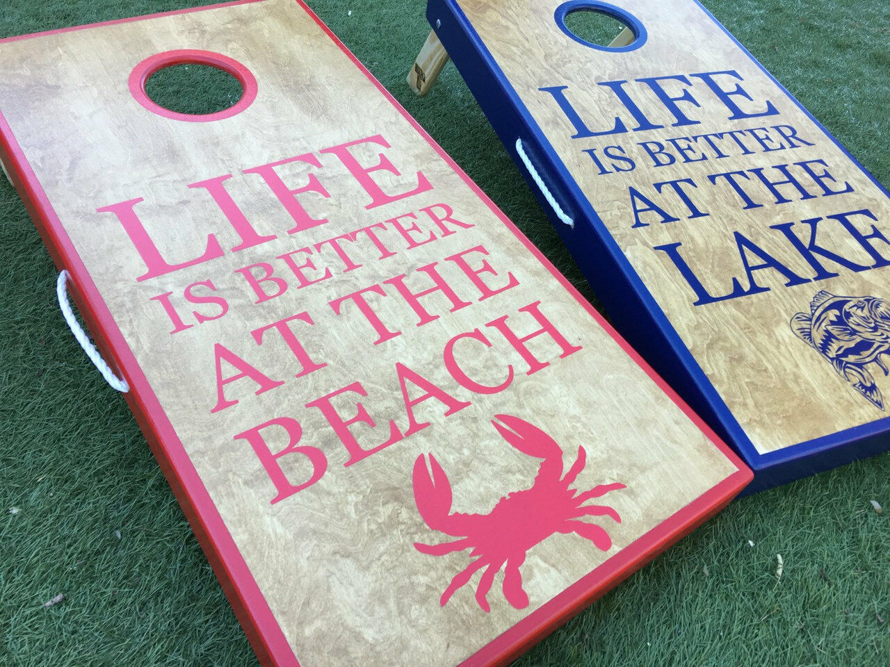 Lake and Beach  Life Cornhole Boards  high-quality merchandise and convenient, honest service