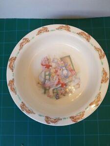 Royal-Doulton-Bunnykins-Bowl-6-25-034-Peter-Rabbit-England-Bone-China