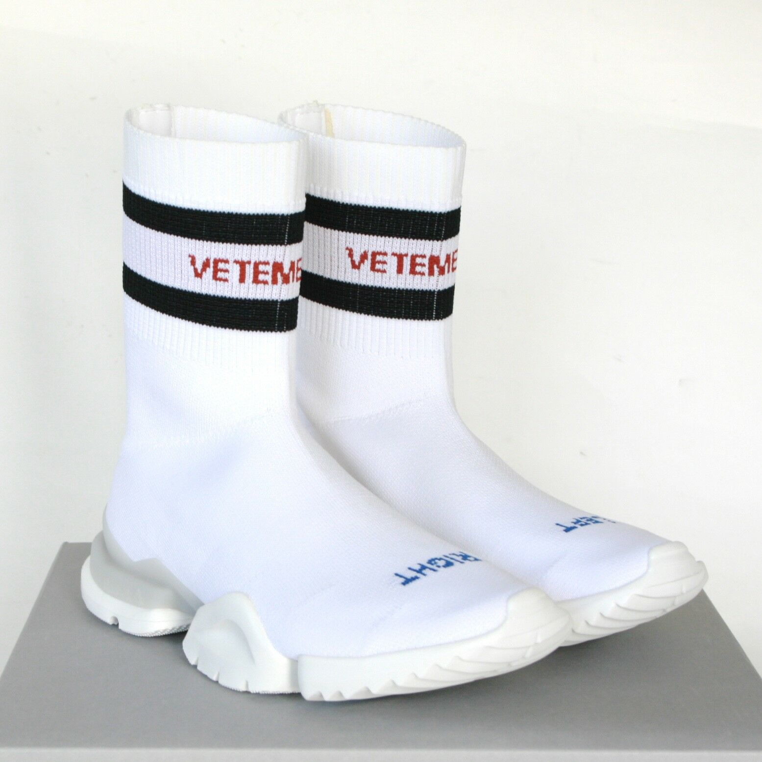 VETEMENTS x REEBOK  840 knit logo avvio avvio avvio sock pump scarpe da ginnastica running scarpe 38.5 NEW 19090c