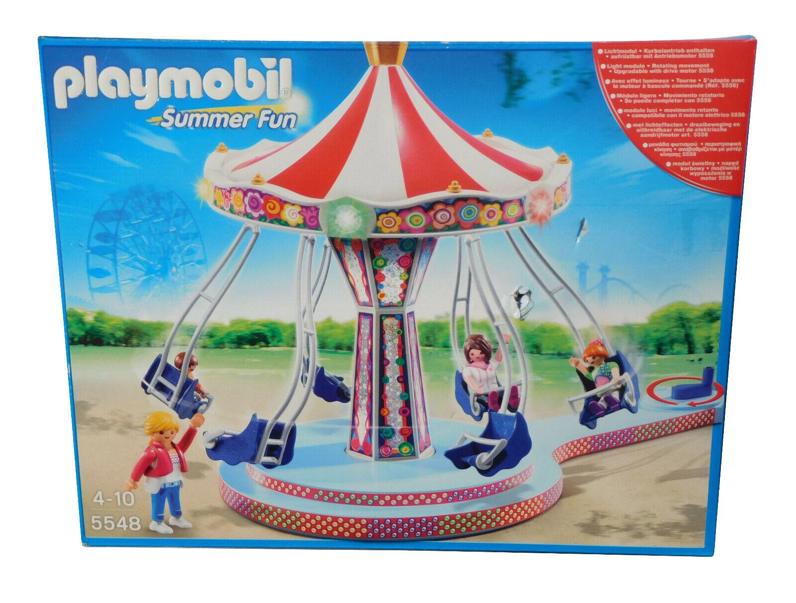 B-Ware Playmobil 5548 Kettenkarussell  Figuren Kinder Spielset Summer  B Ware
