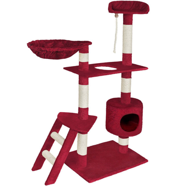 Cat Kitten Scratching Post Tree Scratcher Bed Activity Centre Climbing Toy