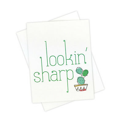 Funny Lookin Sharp Cactus Card for Every Day Keeping in Touch with Friends