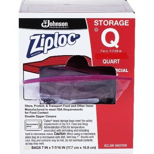 Zip Lock Bags Quart Size 10 Each These are Loose Brand New Bags
