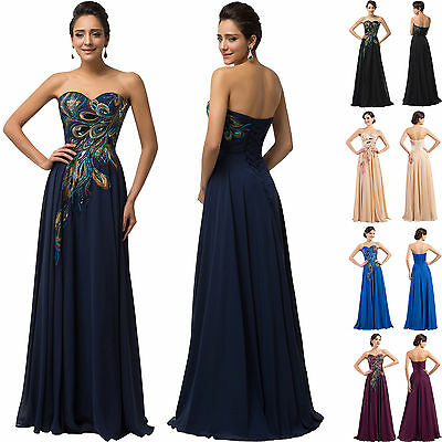 Purple Peacock  victorian ball gown MAXI Prom Evening Masquerade Dress Plus Size