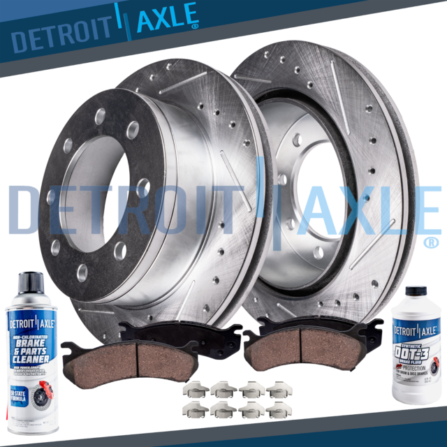 Brake Rotors FRONT+REAR ELINE DRILLED SLOTTED Acura TL 1999-2003