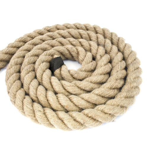 30mm JUTE ROPE impregnated natural fibre laid twisted three strands agriculture