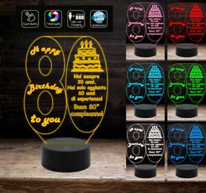 BUON-COMPLEANNO-Lampada-a-led-personalizzata-7-colori-selezionabili-con-numero-8