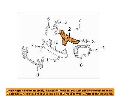 Mercedes MERCEDES-BENZ OEM Radiator Core Support-Upper Tie Bar Seal 2465050086