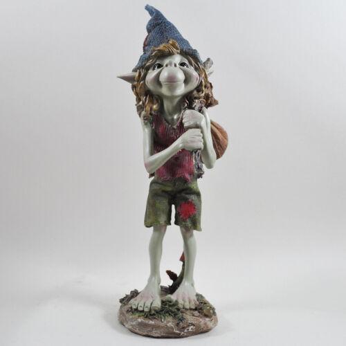 GRANDE Pixie con BINDALL GARDEN Magic Decor Outdoor Fata Elfo Regalo H33cm 39138