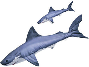 GABY Kissen Kuscheltier Fisch WEIssE HAI Plueschtier Plueschfisch