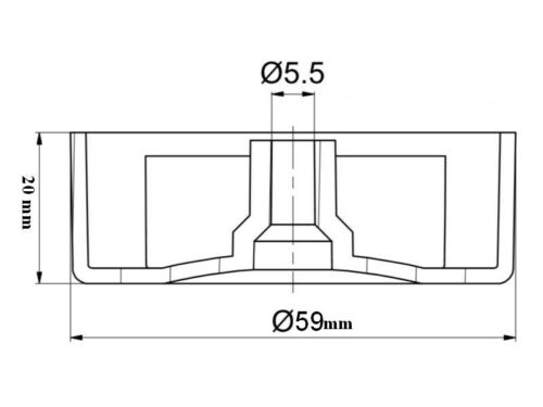 Möbelgleiter Möbelfüße Möbelfuß Polsterfuß ø  59 mm H 20 mm
