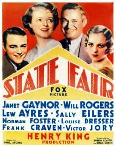OLD MOVIE PHOTO State Fair Poster Lew Ayres Sailly Eilers Will Rogers Janet Gayn