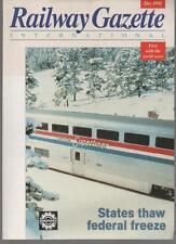 Railway Gazette International Magazine December 1991 Bombardier SN