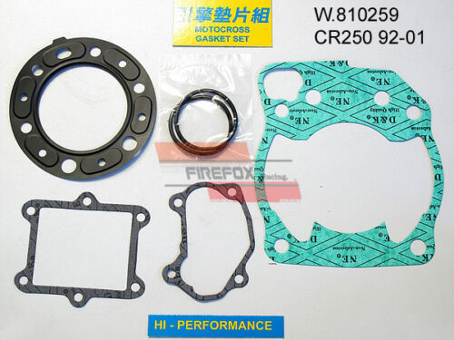Honda CR250 CR 250 /'92 /'01 Top End Gasket Kit
