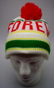 c317419bb NEFF Forever Fun Beanie Folded Cuff Pom White/Red/Green Mens Women's ...