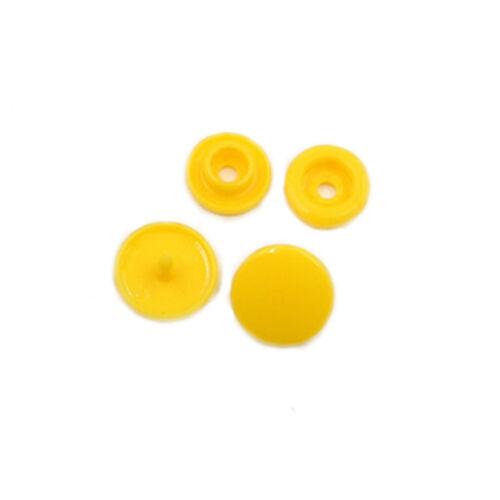 Button Clothing Sets 50PCS 12mm 50Pcs New Fasteners Popper Clip Plastic Snap