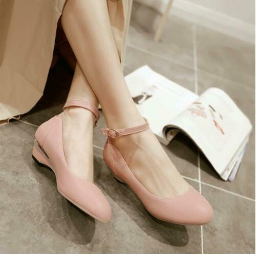 Details about  /Women Tapered Heel Round Toe  Ankle Strap Retro Mary Janes Casual Shoes Fashion