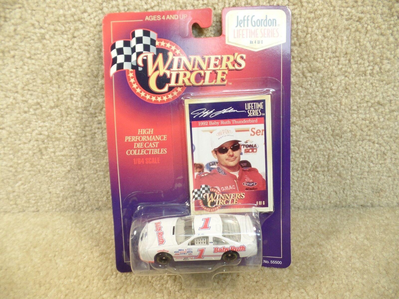 New 1997 Winners Circle 1 64 Diecast NASCAR Jeff Gordon Baby Ruth Ford T Bird