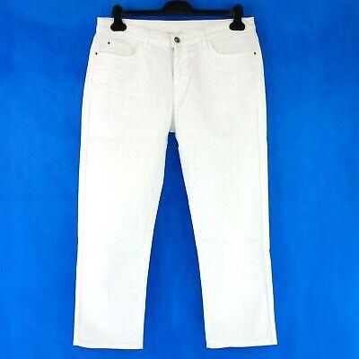 2019 Nuovo Stile Emporio Armani Jeans Pantaloni Donna 3z2j10 W31 Bianco Denim Slim Fit Capri Np