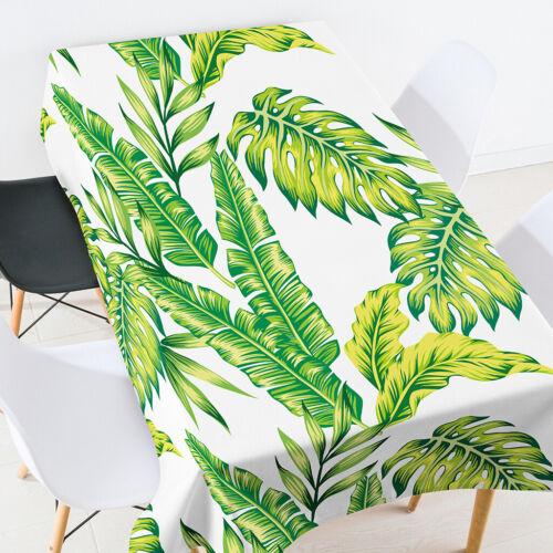 140*260CM Waterproof Tablecloths Tropical Plants Crane Printed Polyester Mat