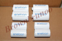 Sanyo Eneloop Spacers Adapters Aa To C & D Size Battery 8 Pcs