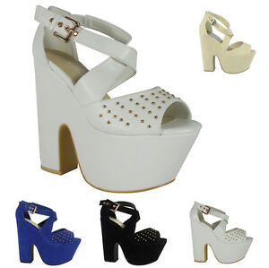 LADIES-WOMENS-HIGH-HEEL-CHUNKY-PLATFORM-WEDGES-PEEP-TOE-SANDALS-SHOES-SIZE-3-8