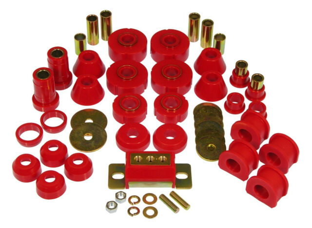 Prothane 67-72 Chevy C10 2WD Pickup TOTAL Complete Suspension Bushing Kit Red