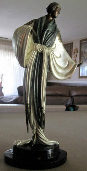 "Erte    (Romain De Tirtoff)    ""Bella de Nuit""   Bronze Sculpture   MAKE OFFER"