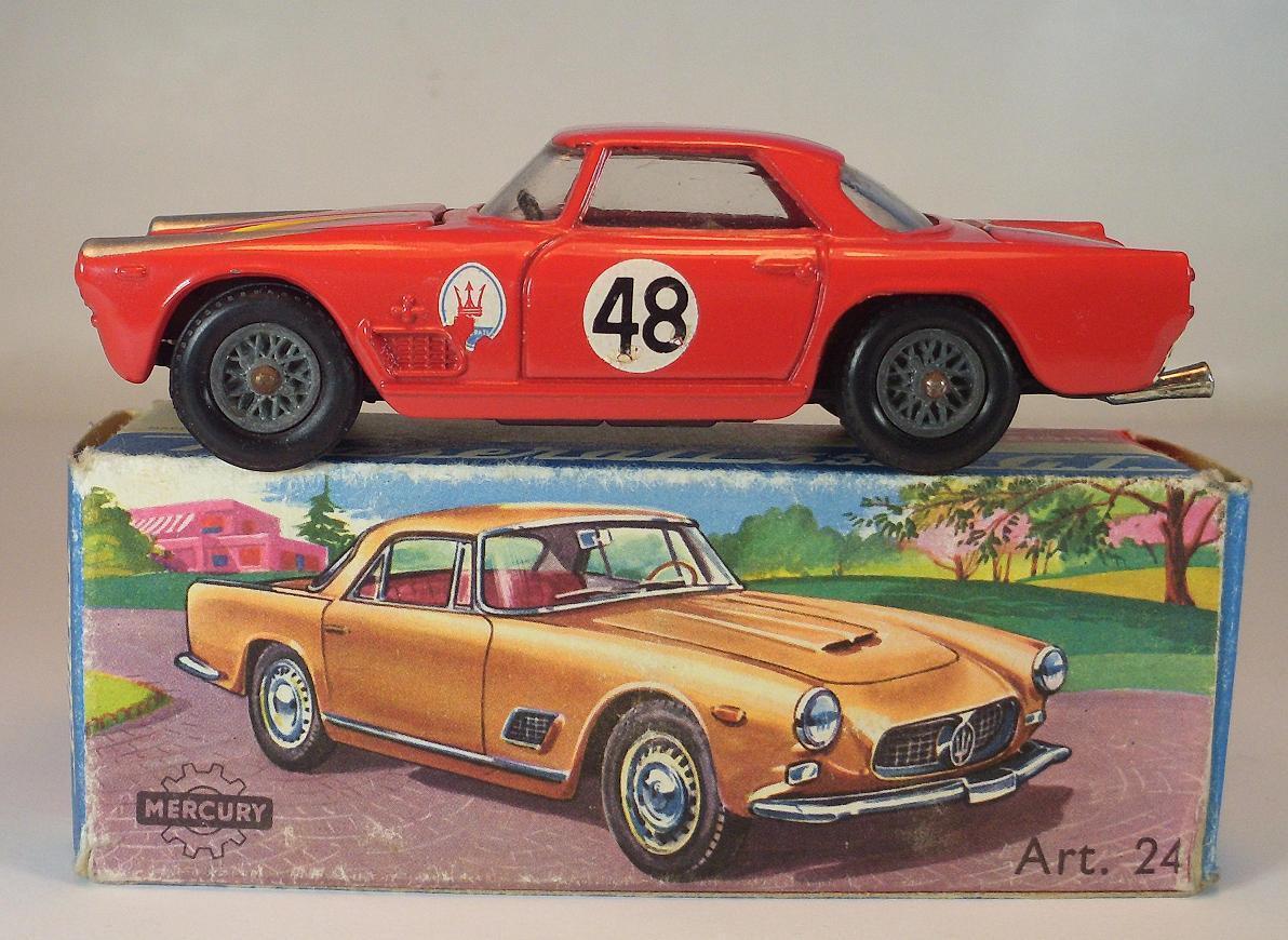 Mercury 1/43 n. 24 MASERATI 3500 GT RALLY ROSSO numero iniziale 48 OVP #061
