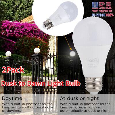White LED Bulb E27 Auto Dusk To Dawn Light Sensor Night Lamp Indoor Outdoor UK