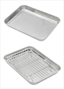 3 Sizes available Aspire 304 Stainless Steel Tray Cookie Sheet Baking Pan