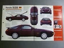 "1977 - 1995 Porsche 928 Coupe IMP ""Hot Cars"" Spec Sheet / Folder Brochure 2-12"
