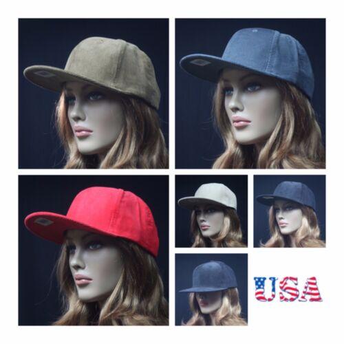 Baseball Cap Corduroy Snapback Flat Bill Hip Hop Winter Hat Casual Ball Cap