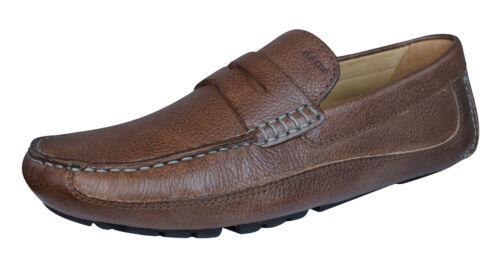 Geox U Melbourne Un Homme En Cuir Mocassins//Chaussures-Marron