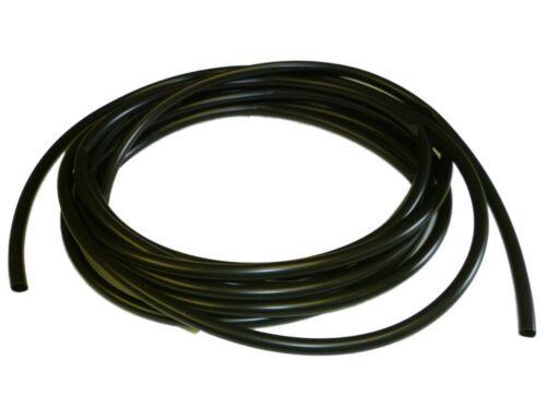 6mm BLACK flexible PVC Sleeve / Sleeving /Tubing - 5 metres