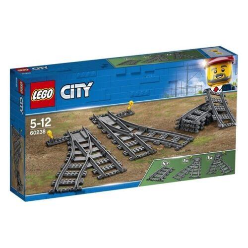 LEGO CITY 60238 WEICHEN EISENBAHN EISENBAHNWEICHEN NEU