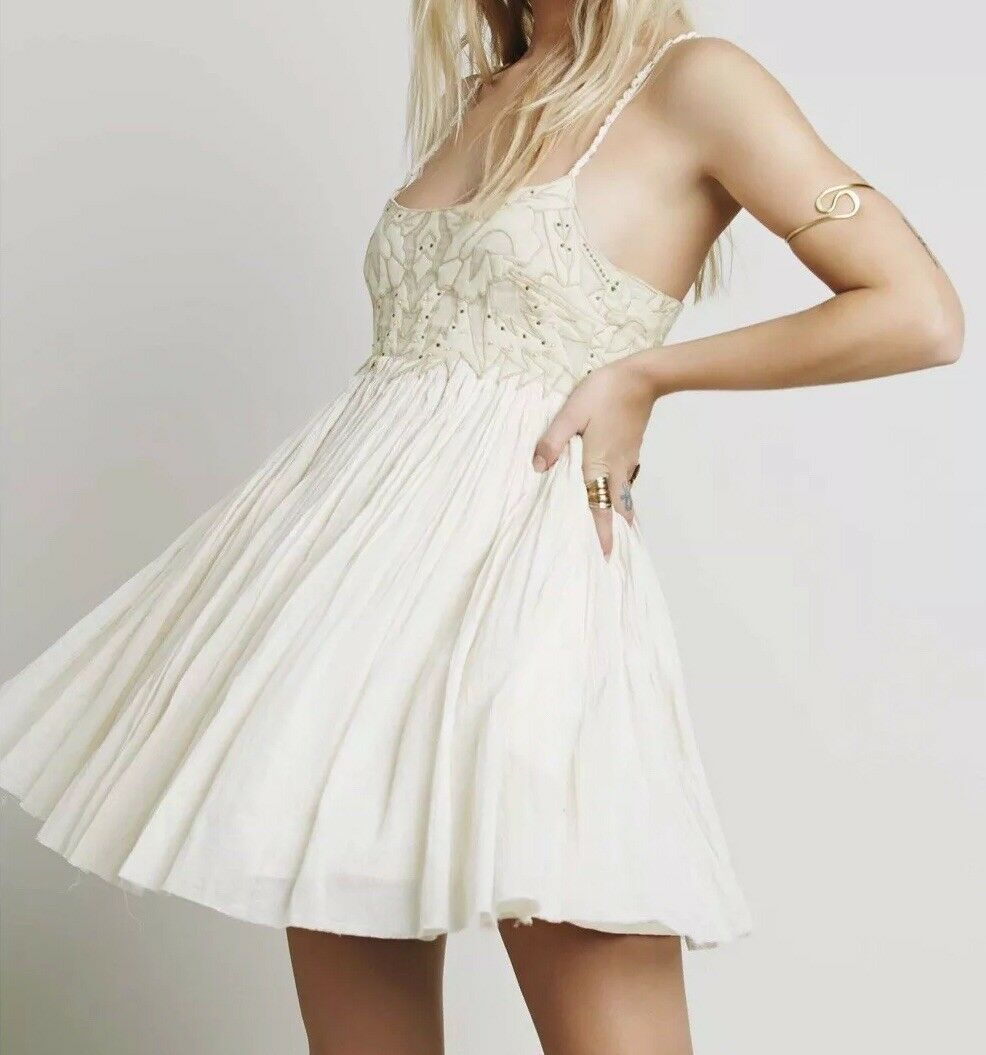 NEW Free People Earth Angel Gauzy Eternal Mini Dress Size 0