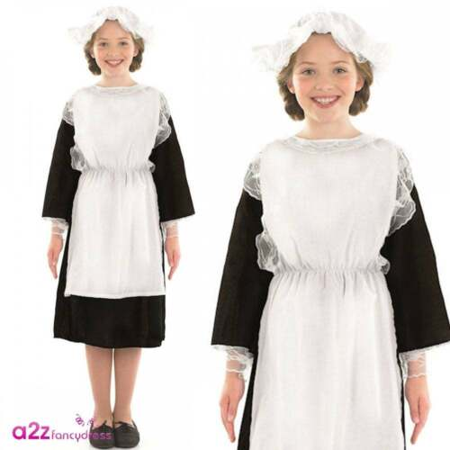 Victorian Girl Costume Historical Tudor Poor Urchin Book Day Fancy Dress Outfit