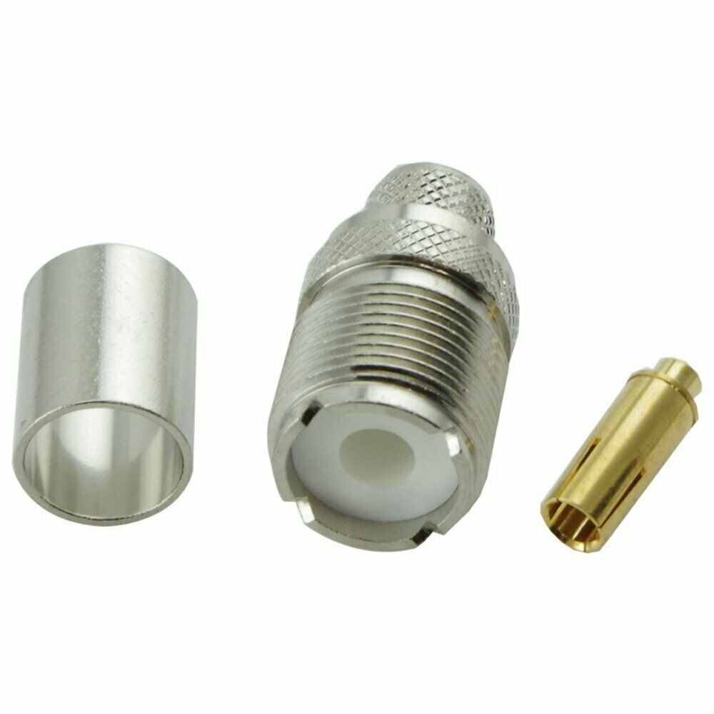 PL259 Female Crimp connector for HDF400 Cable Adaptor WiFi Cable Barrel