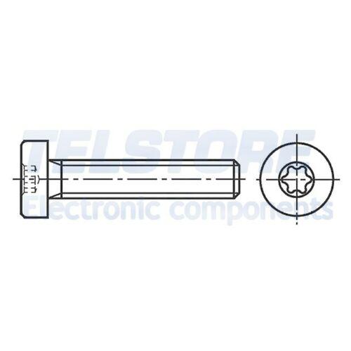 100pcs  Vite M4x12 Testa cilindrica Incisione Torx acciaio zinco BOSSARD