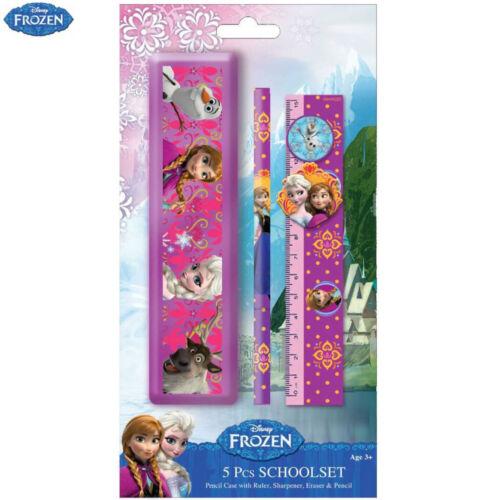 Kit Per La Scuola Disney Frozen Set 5 Articoli Pezzi Matita Gomma Per Bambini