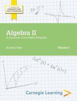 Algebra Ii: A Common Core Math Program Student Skills Practice Book