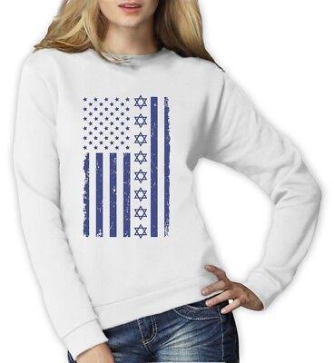 Big Distressed Star of David U.S Flag American Jew Hoodie Jewish