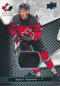 2018-Upper-Deck-Team-Canada-Juniors-18-Brett-Howden-Jersey-Base-Parallel