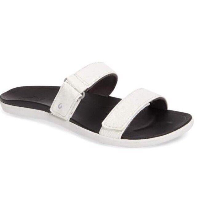 Authentic OluKai Kipuka Slide Sandal Taille US W6-EUR36, blanc  75.