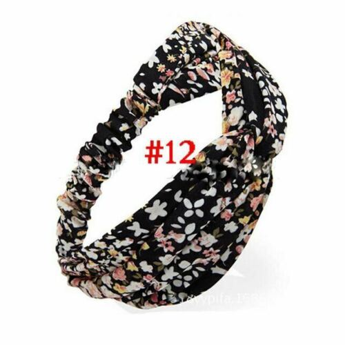 1PC Yoga Hair Band Summer Style Elastic Turban Floral Twisted Knotted Headband H