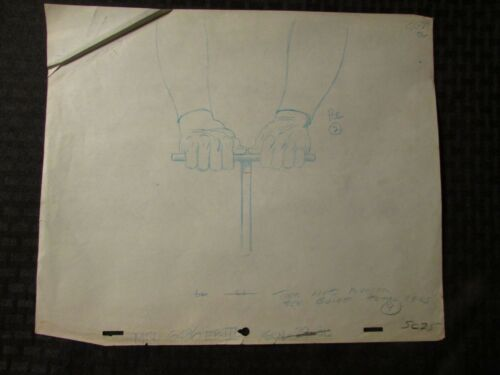 1960's SUBMARINER TV Animation Cartoon Production Art Sc25A Detonator Plunger