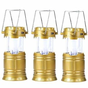 5800-T-Rechargeable-Solar-Camping-Lantern-Gold-Set-of-3