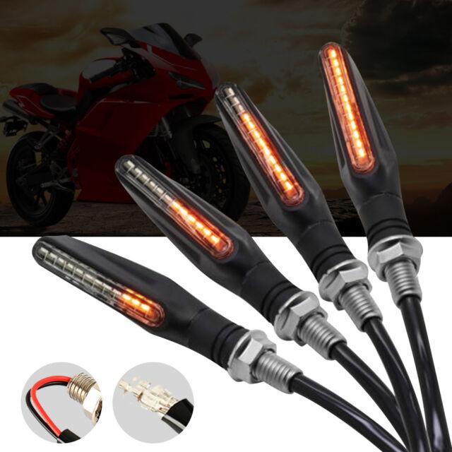 4x LED Clignotants de Moto Circuler Indicateur Lumière Voyant 12V Universel FR