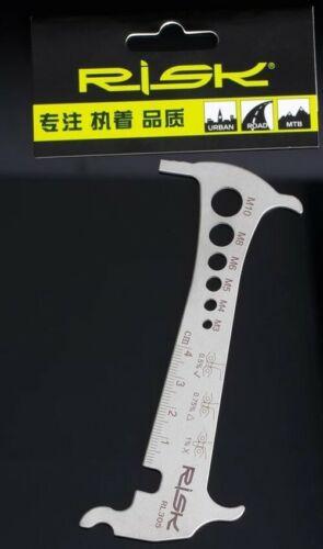 M10 Brompton Bike Measure Bolt Size M3 3 in 1 Chain Wear Checker .5 .75 1.0